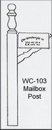 WC-103 Mailbox Post